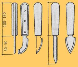 Нож-резак для нарезания элементов мозаики